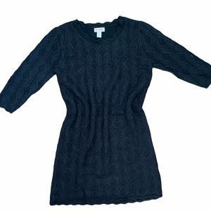 2/$30 Cat & Jack Sweater Dress Black Lined Large